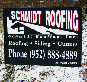 roofing corex yard sign