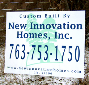 custom contractor lawn sign